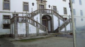Escadaria de acesso à Zona Nobre do antigo Colégio Salesiano, no Convento de Santa Mafalda